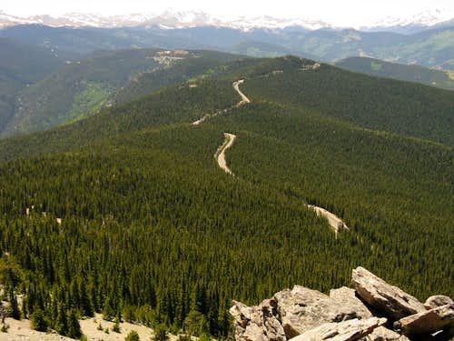 Mt Evans highway