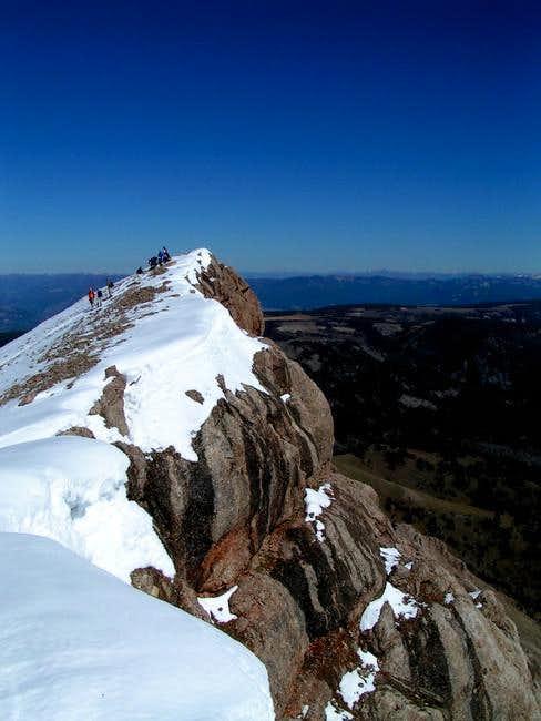 Sphinx Summit, looking east,...