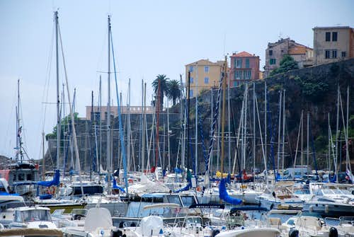 The old harbor of Bastia