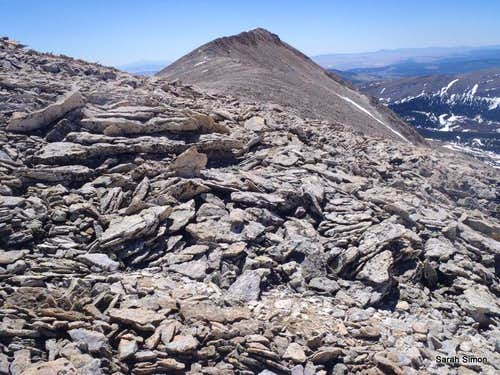 Talus hop from saddle