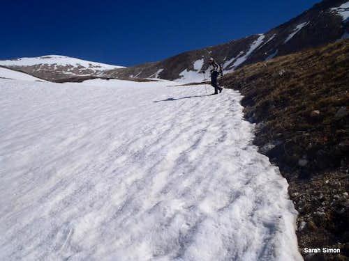 Toward the 13,500 foot saddle