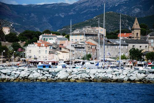Port of San Florent from the sea