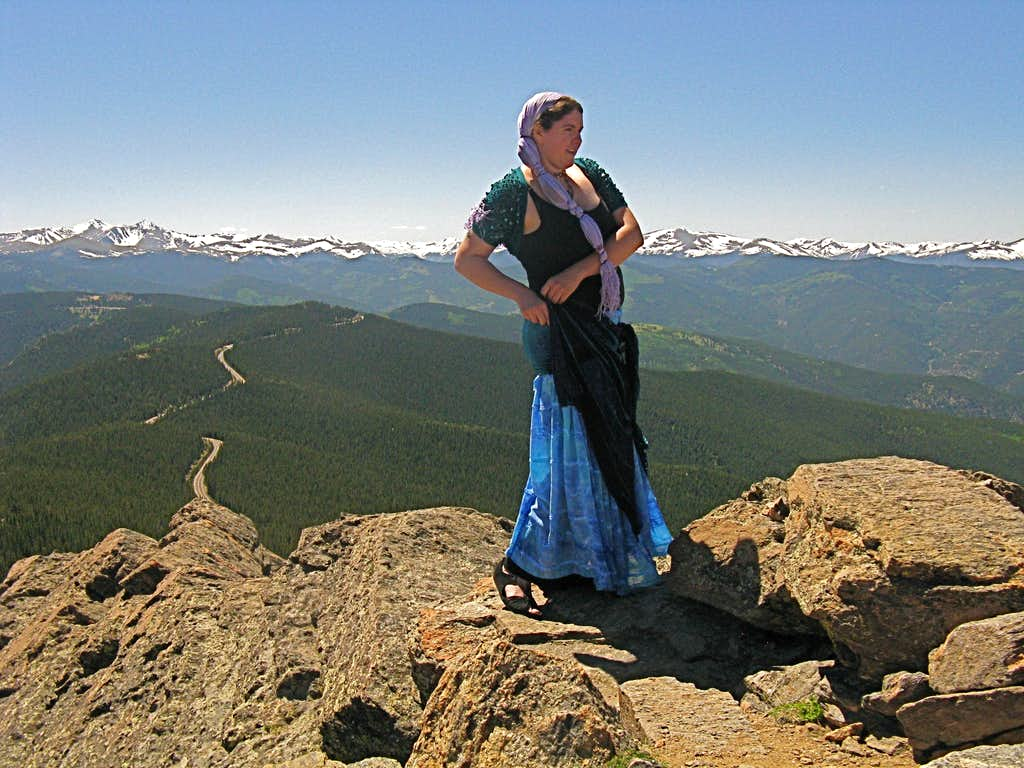 Dancing on Chief Mountain