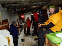 Stuck in the Camp Muir public shelter