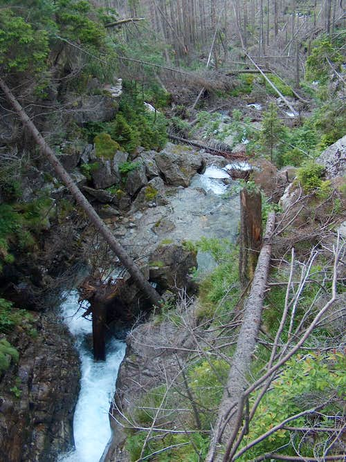 Waterfall near Zamkovského chata