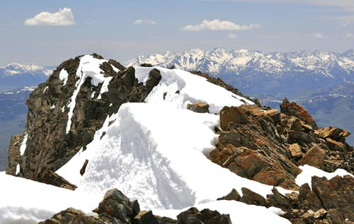 Peak 11967 summit ridge from north