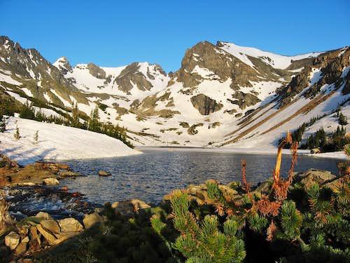Lake Isabelle with Navajo, Apache & Shoshoni Peak