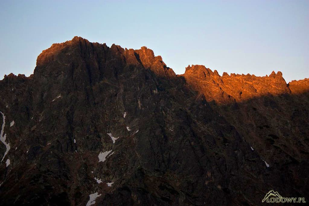 Zabie ridge at sunset