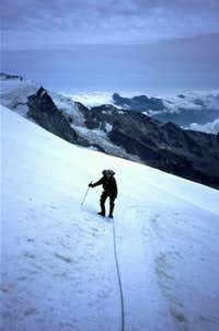 Trondling up the Breithorn...