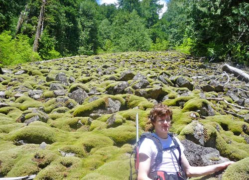 Mark with the boulder field