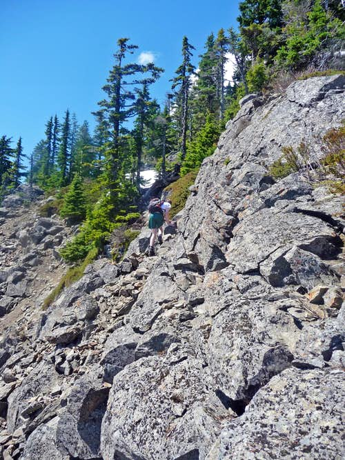 Mark Scrambling Near the Summit