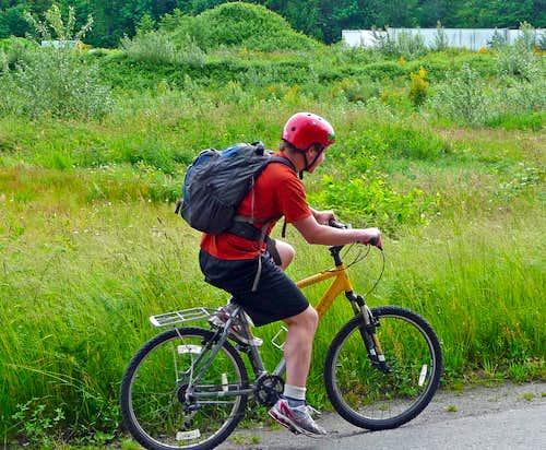 Me Biking Along Highway 2