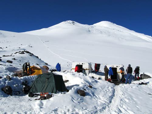 Elbrus North High Camp