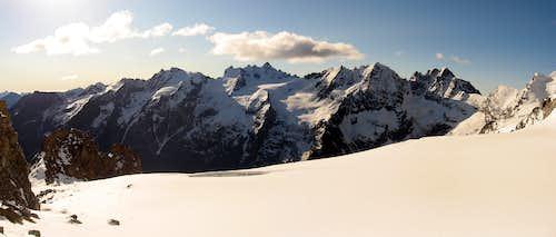 WE main ridge seen from bivouac Leonessa.
