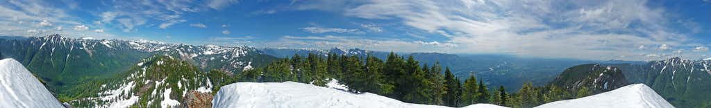 Mount Zekes Summit Panorama