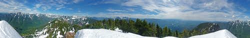 Mount Zekes Summit Panorama