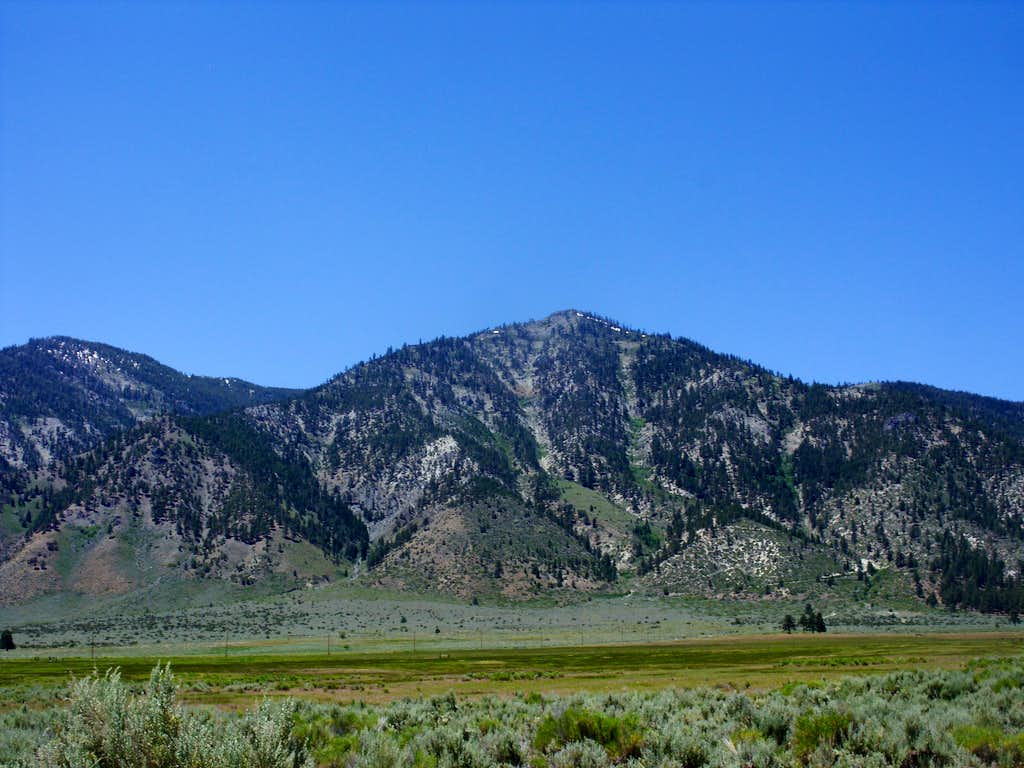 South Camp Peak from the Jacks Valley below