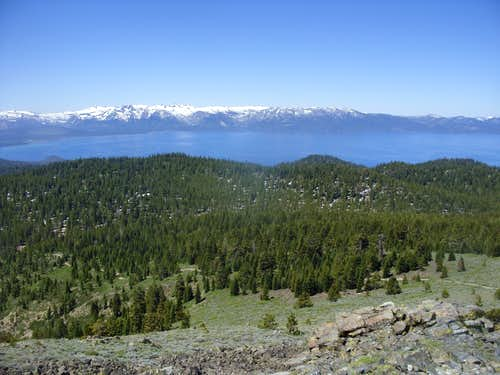 Lake Tahoe from the summit of Genoa Peak