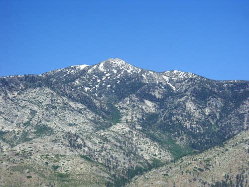 Monument Peak from the east