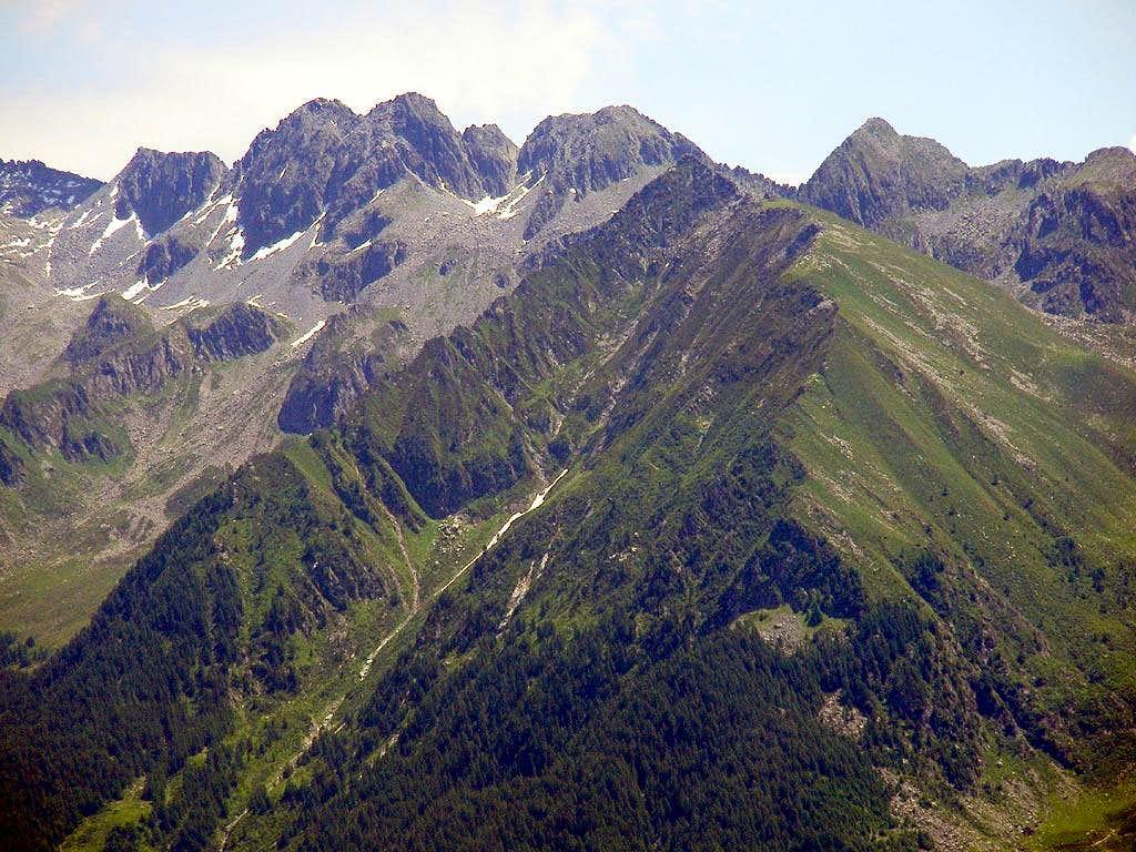 the ridge of Malvidelo
