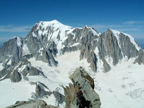 Mont Blanc from Dent du Geant