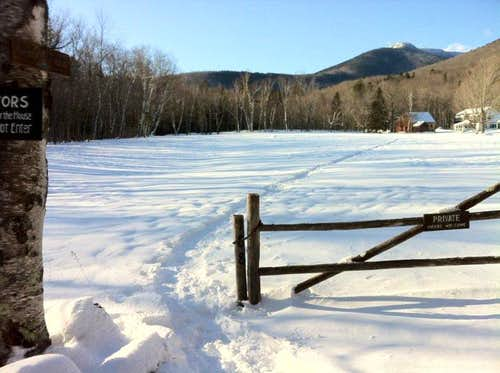 Mt Whiteface trail head and beautiful farmhouse NH