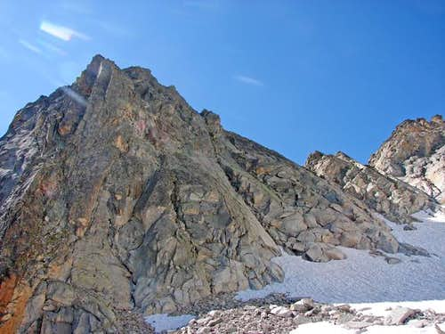 Lac d'Aubert-Chimney of glacier