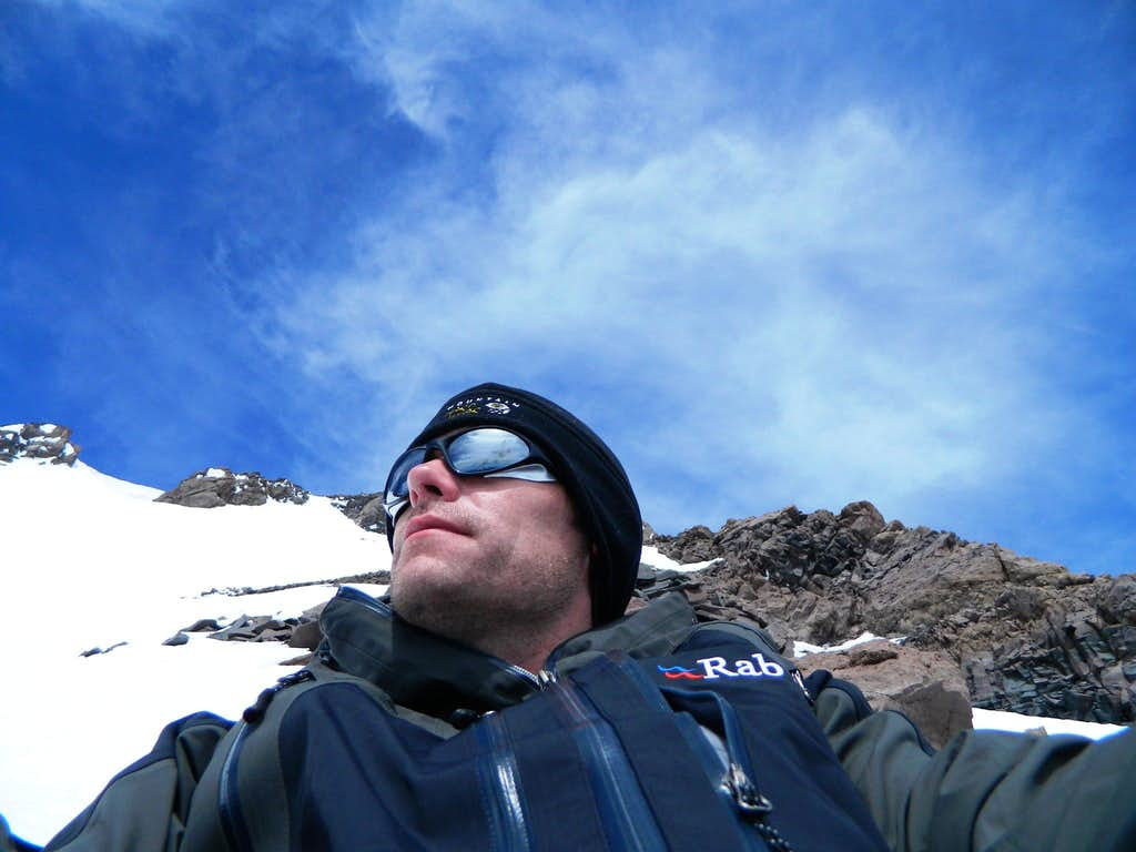 High on the Casaval Ridge of Shasta. Leisurely lunch.