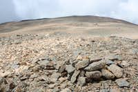 The summit Laguna Blanca