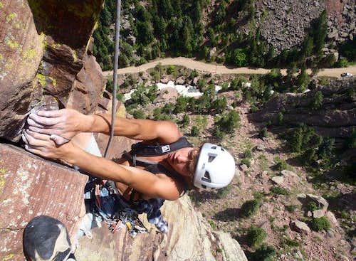 Vertigo (5.11b, 4 pitches) Eldorado Canyon, CO