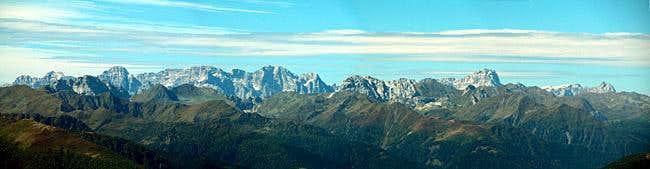 Summit view Lumkofel: Sexten...