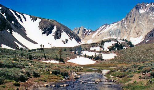 Hangin valley northwest of McGee Mtn.