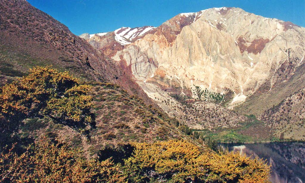Laurel Mtn. Sevehah Cliff from Convict Lake area