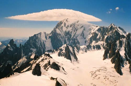 UFO above Mont Blanc