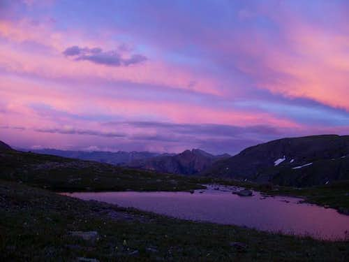 Sunset in the Ice Lakes Basin...