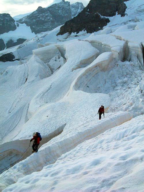 A big crevasse, Piz Gluschaint