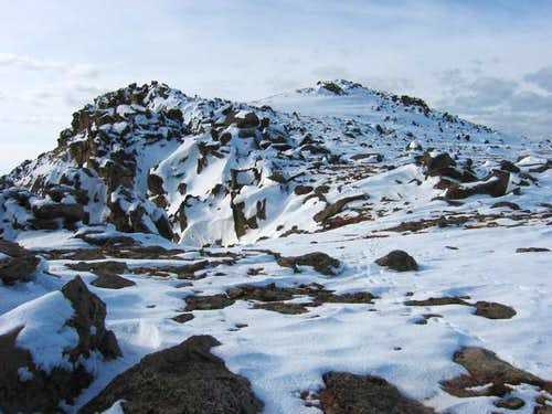 The summit from the...