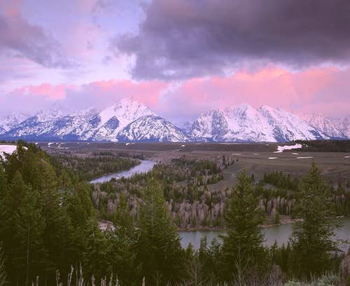 Sunrise on the Tetons