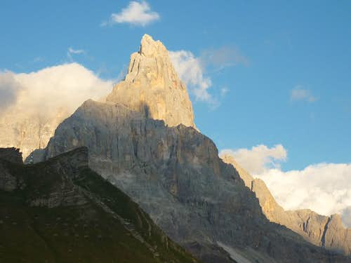 Sunset over Cimon della Pala