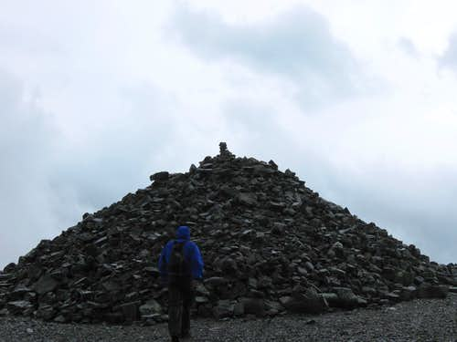 Huge Cairn or rock pile - Besseggen Ridge, Norway