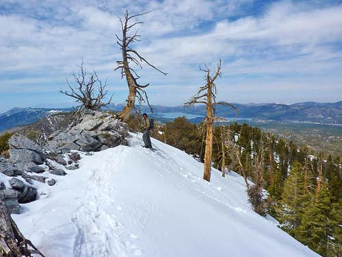 Sugarloaf Mountain Ridgeline above Big Bear