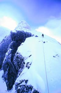 Climbing Tower Ridge, Feb 2001