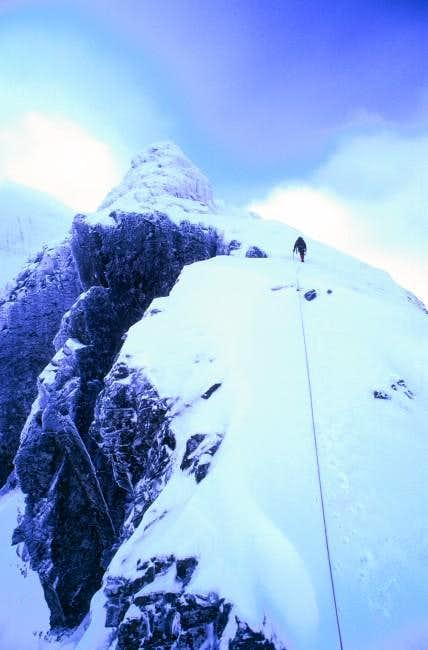 Climbing Tower Ridge, Feb 2001