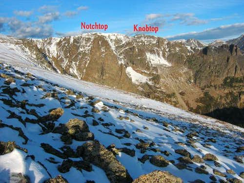 The ridgeline containing...