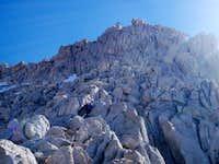 Approaching the summit ridge