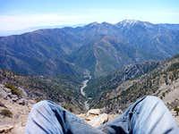 View down Mine Gulch towards Pine Mountain Ridge