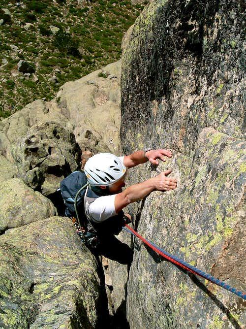 Punta di l'Acellu, La Masino - Chimney Crack