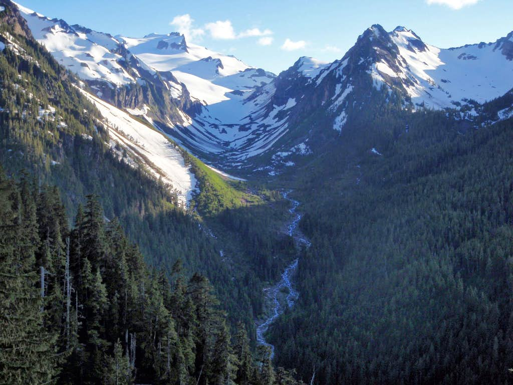 Mount Tom And The White Glacier