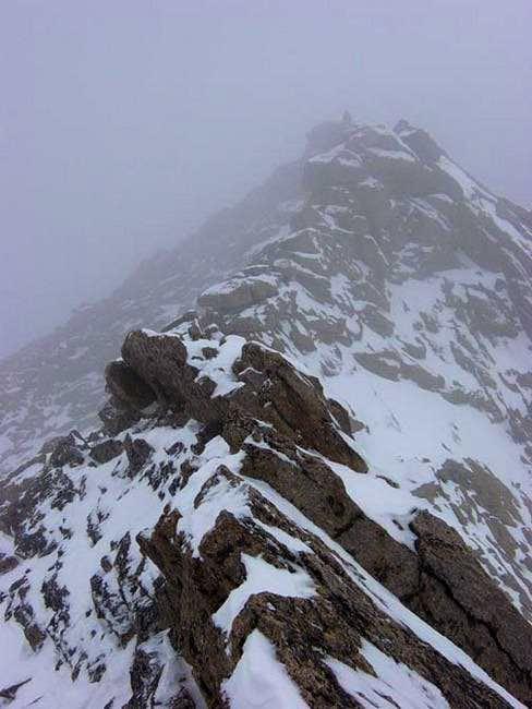 View along Meeker Ridge in...