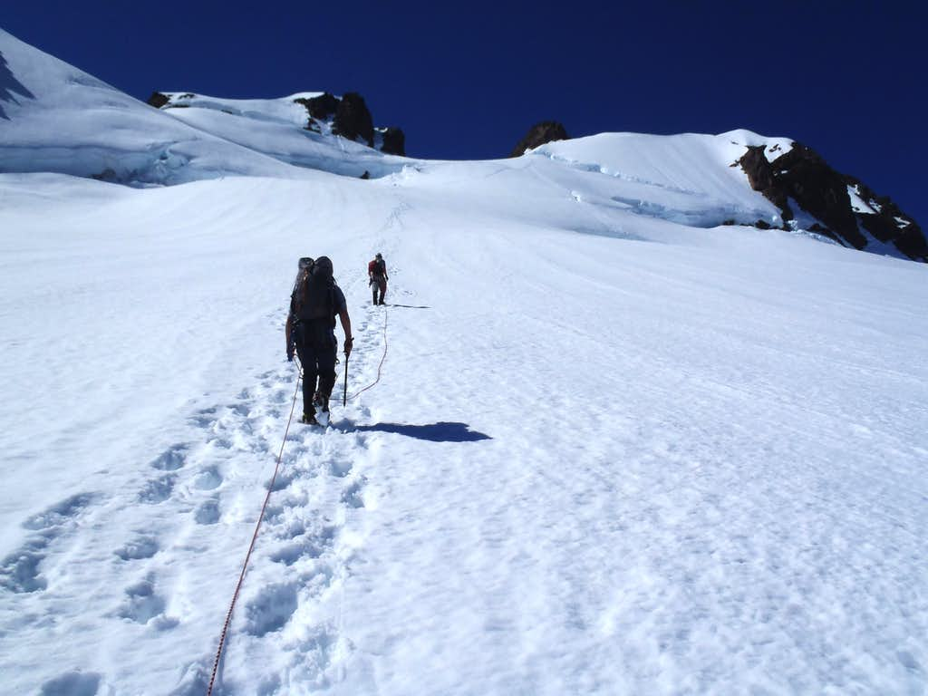 Heading South From Snow Dome